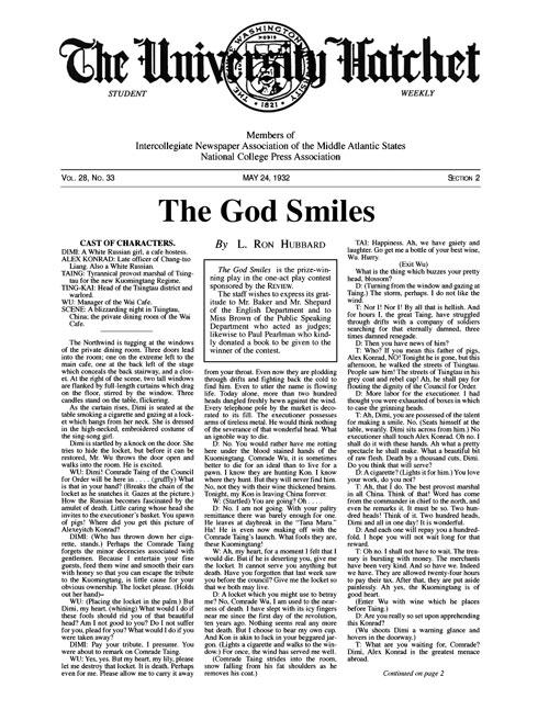 The God Smiles, published in 1932 in George Washington University Hatchet
