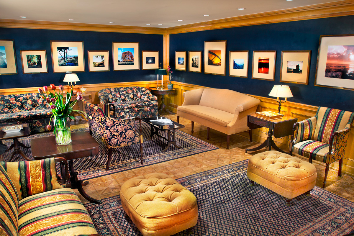 In the lounge and coffee bar, is a small selection of the tens of thousands of photographs taken by L. Ron Hubbard during his world travels and many sojourns.