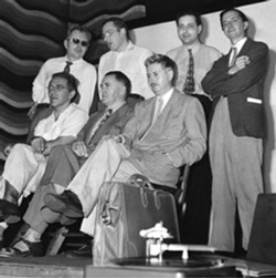 L. Ron Hubbard, 1948, among fellow science fiction luminaries at the World Science Fiction Convention in Toronto.