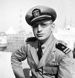 Portland, Oregon, 1943; L. Ron Hubbard, captain of the US Navy subchaser PC 815.