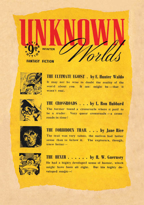 The Crossroads, published in 1941 in Unknown